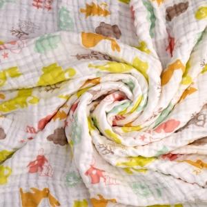 新西兰原产 CRIA儿童六层纱布毛巾被 春天来了 1.2*1.2m