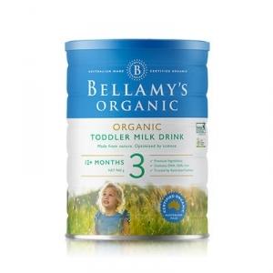 【保税】BELLAMY'S 澳大利亚 贝拉米 奶粉 3段 1岁以上  900g(新包装)【每单最多限购6罐】